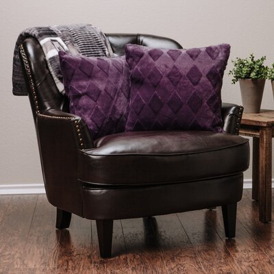 Diamond Shape Throw Pillow Case Color: Aubergine