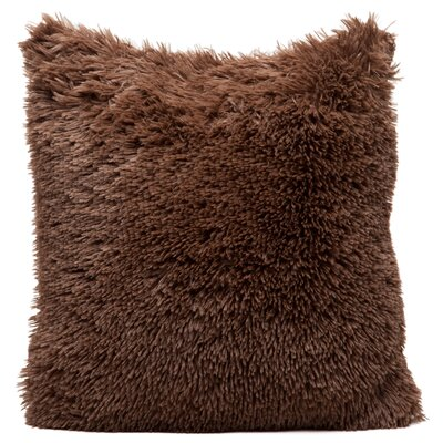 Throw Pillow Case Color: Chocolate