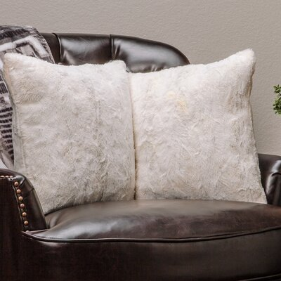 Chanasya Super Soft Pillow Case Color: Ivory