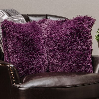 Chanasya Super Soft Pillow Case (Set of 2) Color: Aubergine