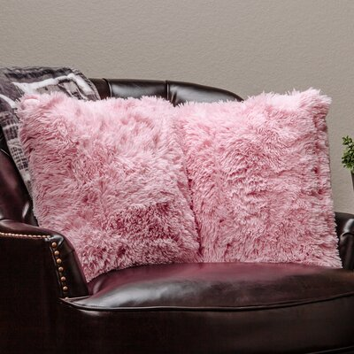 Chanasya Super Soft Pillow Case Color: Pink