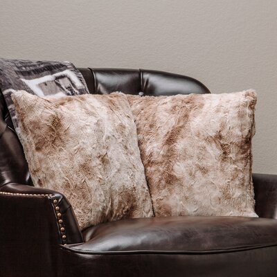 Chanasya Super Soft Pillow Case Color: Beige