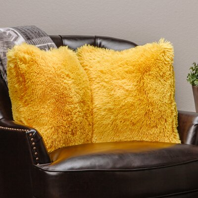 Chanasya Super Soft Pillow Case (Set of 2) Color: Yellow