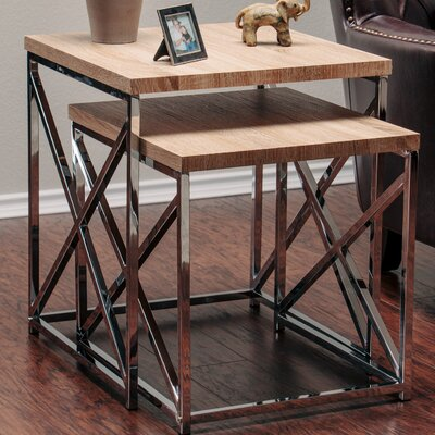 2 Piece Nesting Tables Finish: Natural