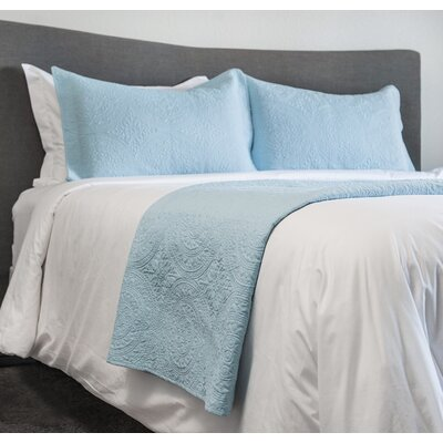 Parkersburg 3 Piece Bedspread Coverlet Set Color: Blue, Size: King