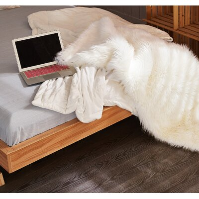 Ottilie Faux Sheepskin White Indoor/Outdoor Area Rug