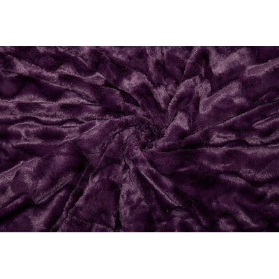 Super Soft Warm Elegent Waivey Pattern Cozy Sherpa Throw Color: Aubergine, Size: 50 W x 65 L