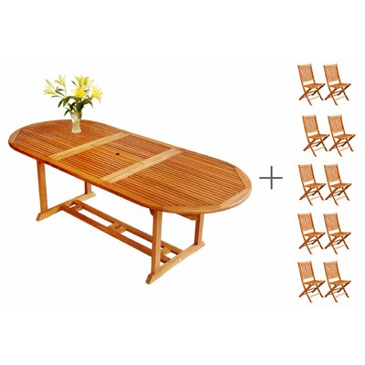 LuuNguyen Win 11 Piece Expandable Dining Set