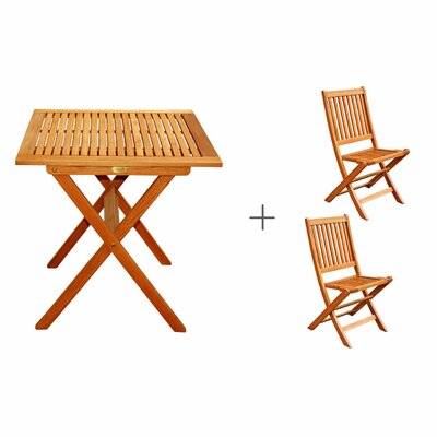 Cadsden 3 Piece Folding Bistro Dining Set