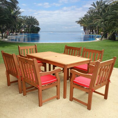 Adam 7 Piece Dining Set with Cushion