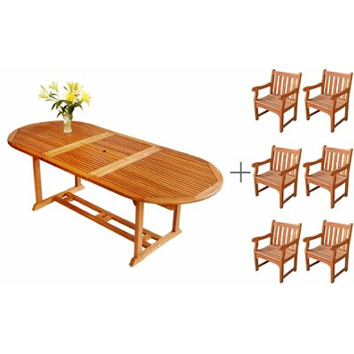 LuuNguyen 7 Piece Dining Set