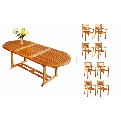 LuuNguyen 9 Piece Dining Set