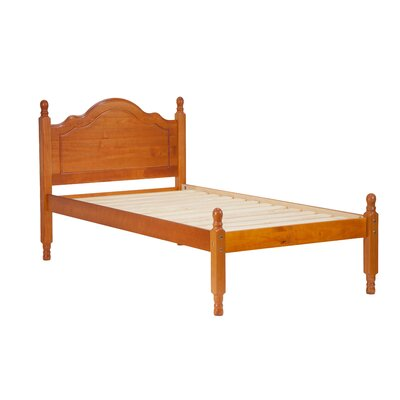 Reston Panel Bed Size: Twin, Finish: Honey Pine