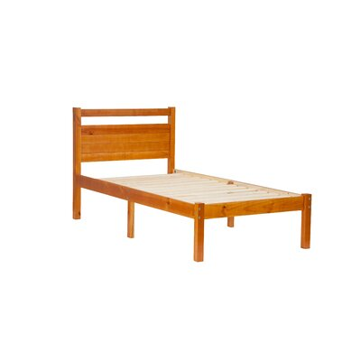 Bronx Twin Platform Bed Color: Honey Pine