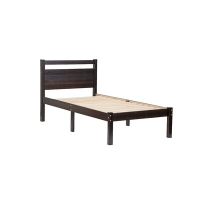 Bronx Twin Platform Bed Color: Java