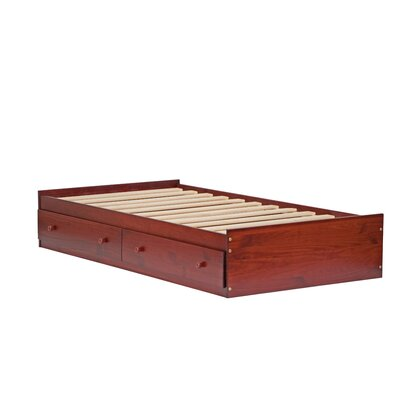 Kansas Mates Bed with Drawers Size: Twin, Finish: Mahogany