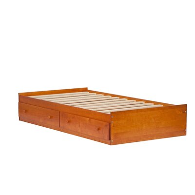 Kansas Mates Bed with Drawers Size: Twin, Color: Honey Pine