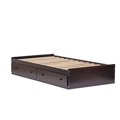 Kansas Mates Bed with Drawers Finish: Java, Size: Twin
