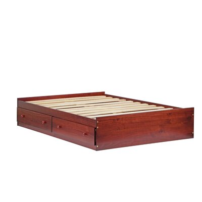 Kansas Mates Bed with Drawers Size: Full, Color: Mahogany