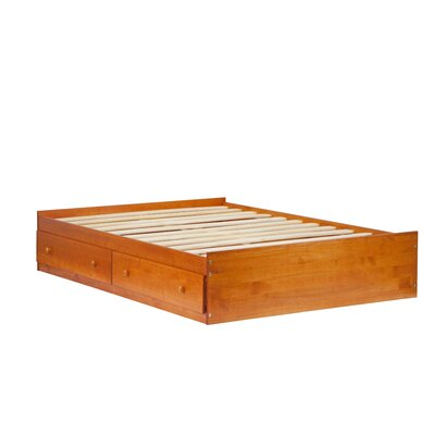 Kansas Mates Bed with Drawers Size: Full, Finish: Honey Pine