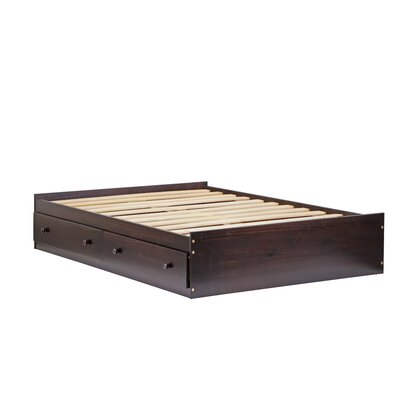 Kansas Mates Bed with Drawers Size: Full, Finish: Java