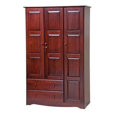 Grand 3 Door Armoire Finish: Mahogany