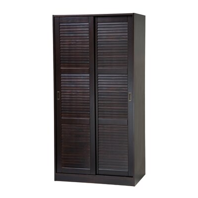 Two-Sliding Door Armoire Finish: Java