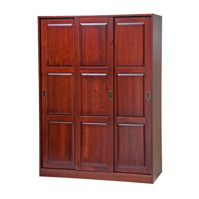 3-Sliding Door Armoire Finish: Mahogany