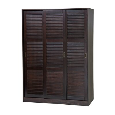 3-Sliding Door Armoire Finish: Java