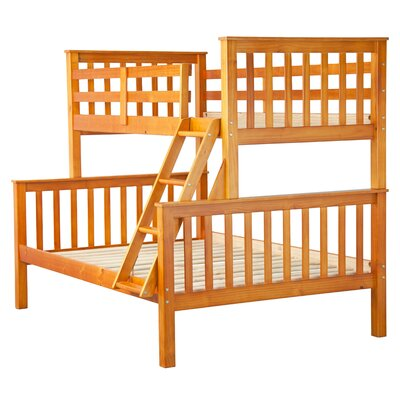 Pamplin Twin Over Full Bunk Bed Finish: Honey Pine