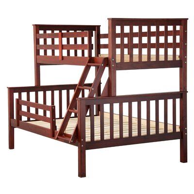 Pamplin Twin Over Full Bunk Bed Color: Mahogany