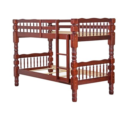 Genaro Twin Over Twin Bunk Bed Color: Mahogany