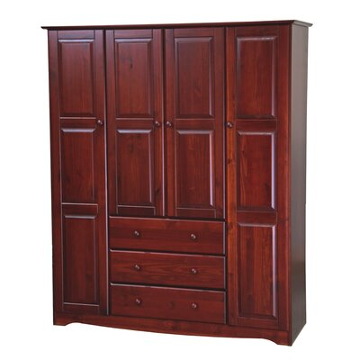 Trexler Family Armoire Color: Mahogany
