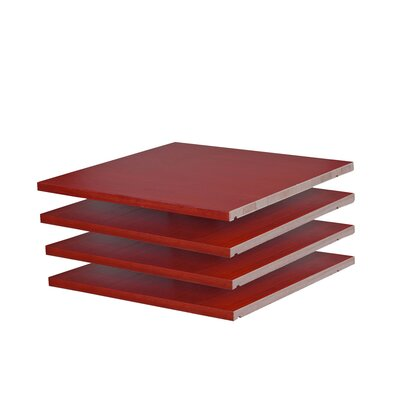 Musman Wardrobe Shelf Color: Mahogany