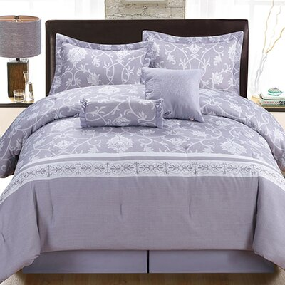 Lara 6 Piece Queen Comforter Set