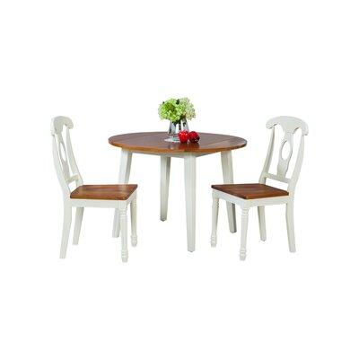 Caroline 3 Piece Dining Set Finish: Oak / White