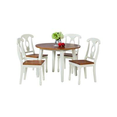 Caroline 5 Piece Dining Set Finish: Oak / White