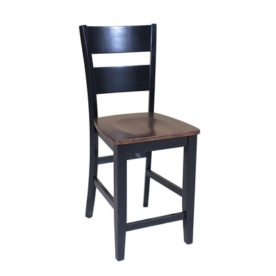 Sturdy Solid Wood Dining Chair Finish: Cherry / Black