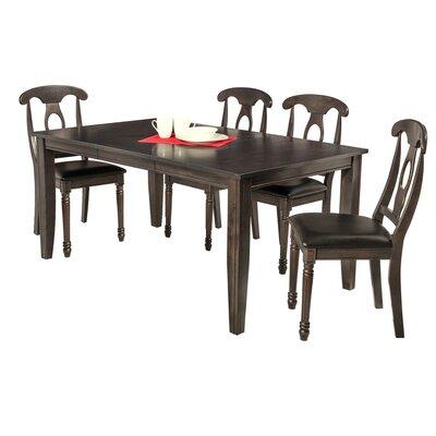 Aden 5 Piece Dining Set Finish: Dark Gray