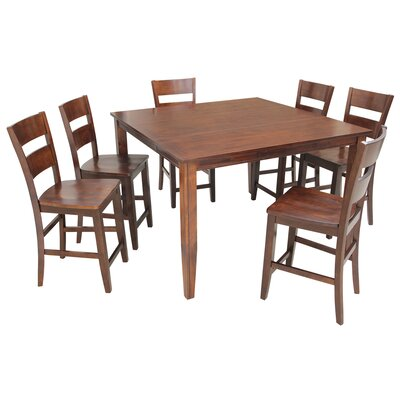 Blairmore 7 Piece Counter Height Dining Set Finish: Espresso