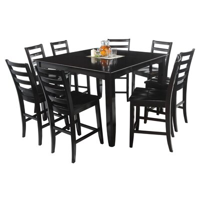 Ryley 9 Piece Counter Height Dining Set Finish: Cappuccino