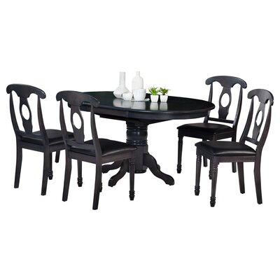 Valleyview 5 Piece Dining Set Finish: Dark Gray
