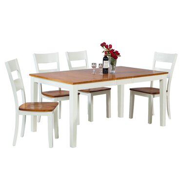 Boswell 5 Piece Dining Set Finish: Oak / White