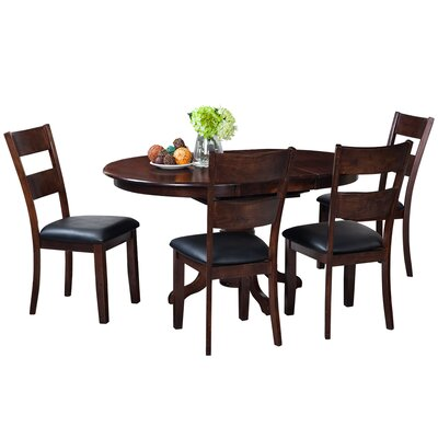 Valleyview 5 Piece Dining Set Finish: Espresso