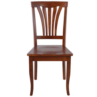 Solid Wood Dining Chair (Set of 2) Finish: Saddle Brown