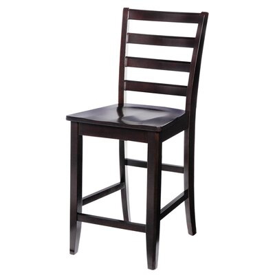 Solid Wood Dining Chair (Set of 2) Finish: Cappuccino