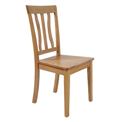 Two Sturdy Solid Wood Dining Chair