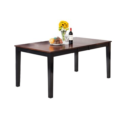 Boswell Extendable Dining Table Finish: Distressed Light Cherry / Black