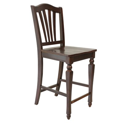 Solid Wood Dining Chair (Set of 2) Finish: Mahogany