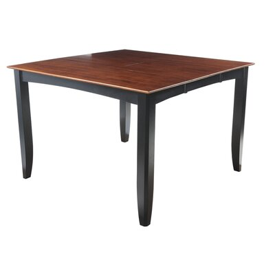 Ryley Counter Height Extendable Dining Table Finish: Black / Saddle Brown